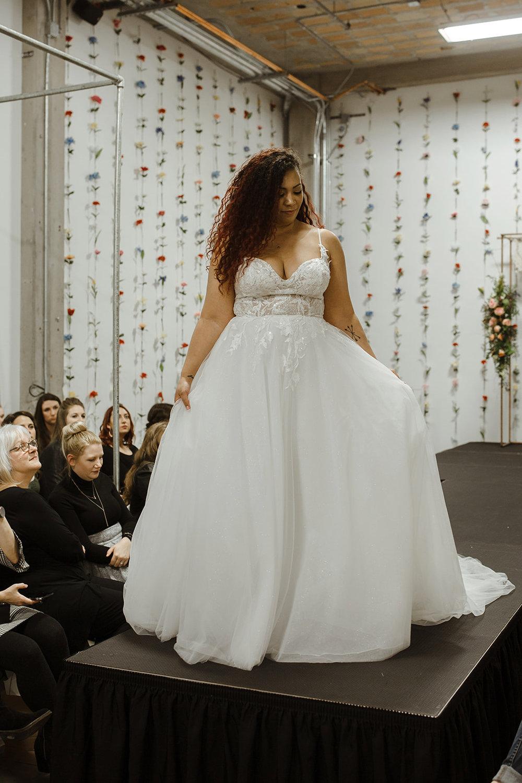 spokane wedding dress model fashion show