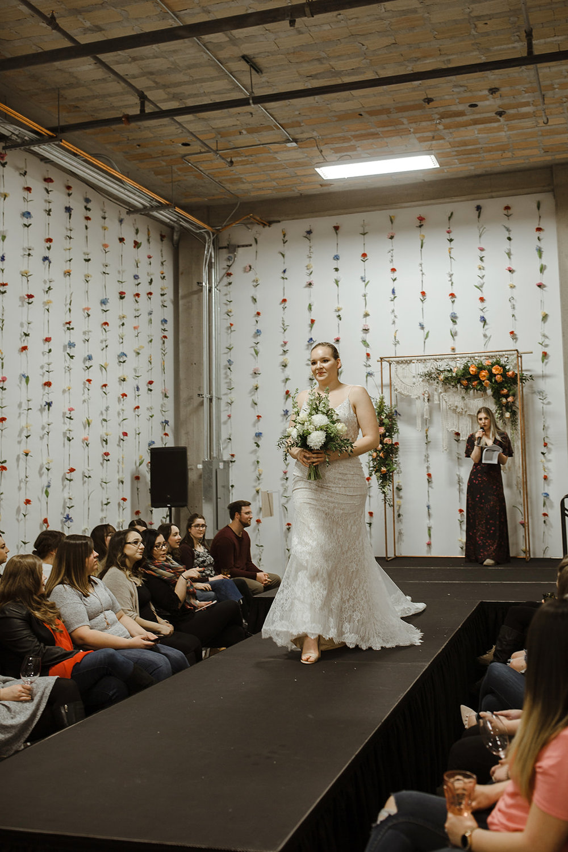 spokane wedding dress fashion show bride bouquet