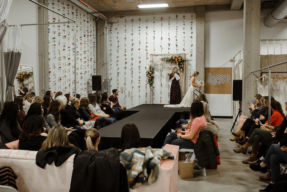 spokane wedding dress stage runway bridal fashion show