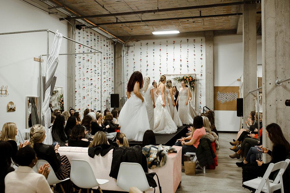 spokane wedding dress fashion show all models on runway
