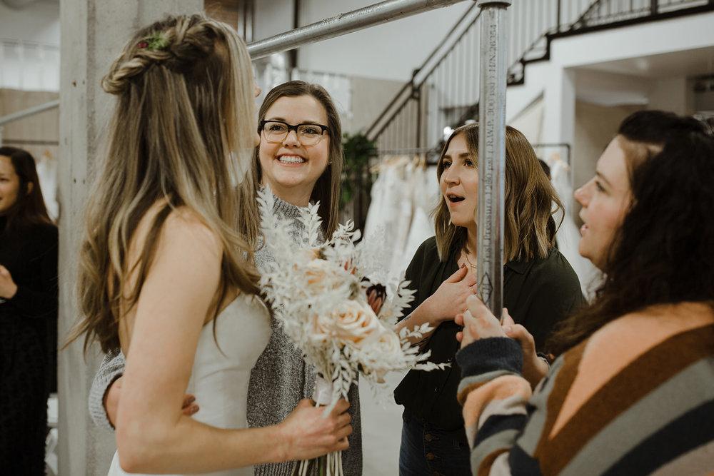 spokane wedding dress fashion show friends