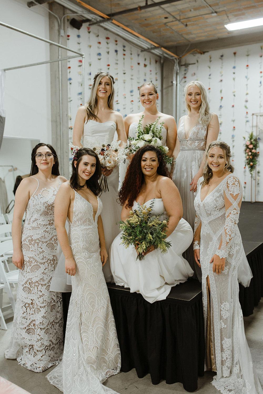 spokane wedding dress all models post fashion show