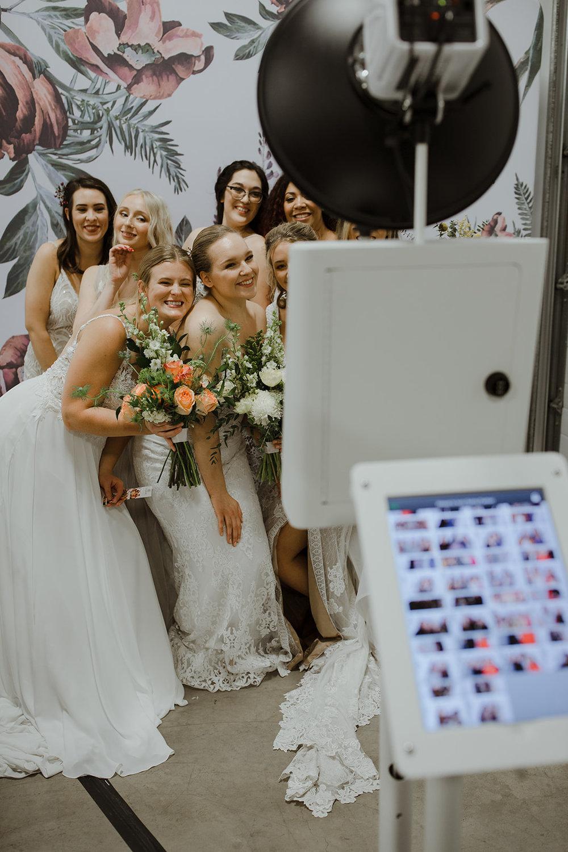 spokane wedding dress fashion show photobooth funny booth all bridal models