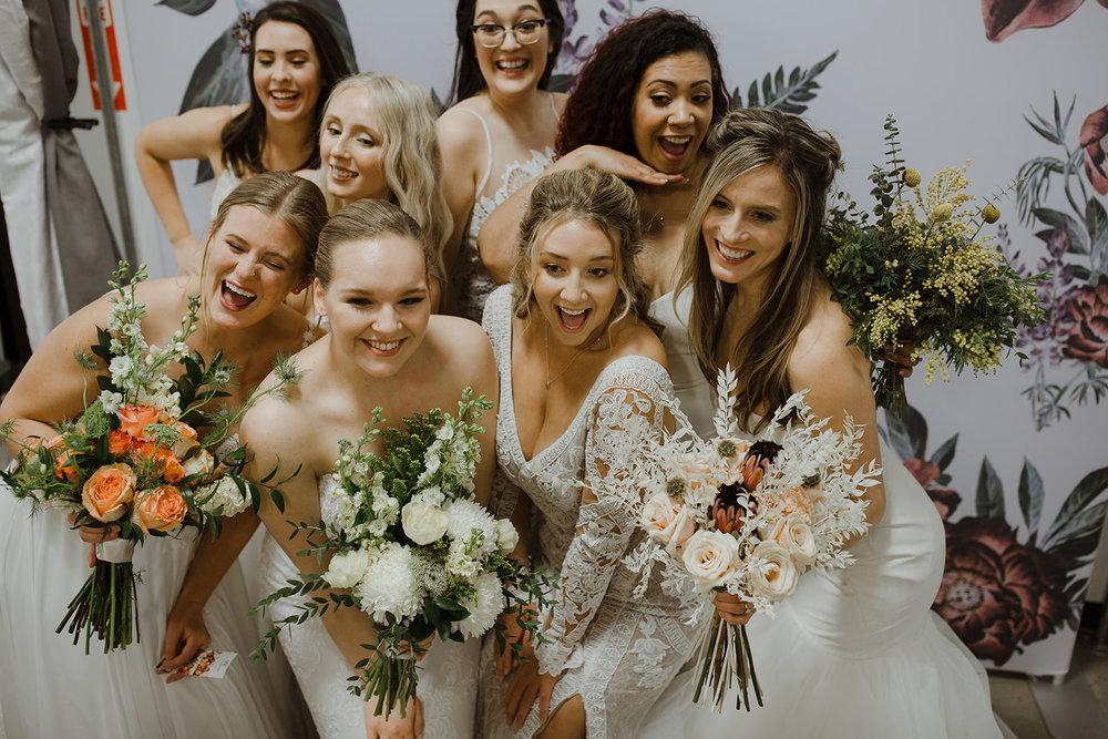 spokane wedding dress fashion show all bridal models funny photobooth