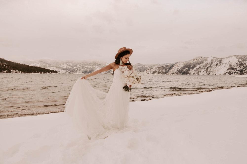 winter wedding dress bride spokane idaho