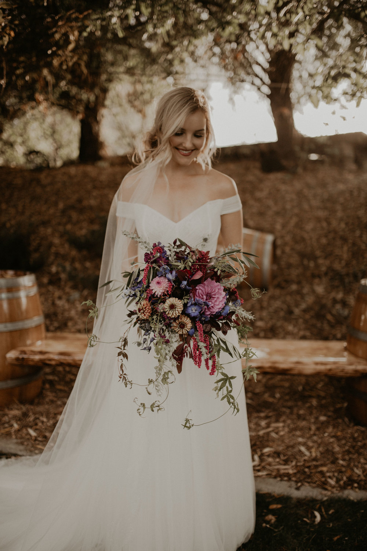 off the shoulder gown bride wedding spokane