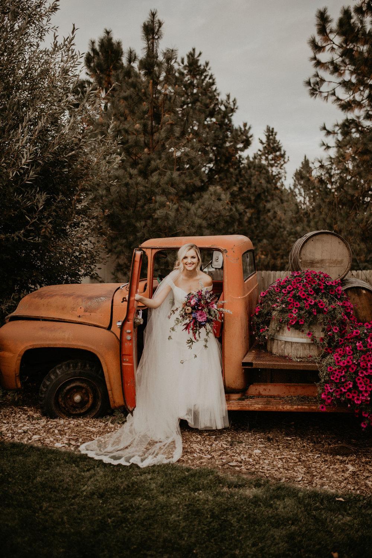 rustic truck bride spokane