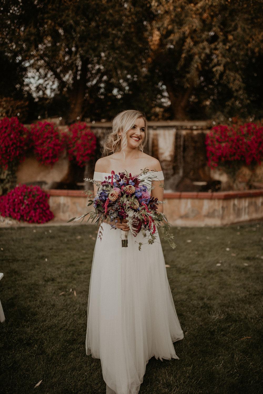 walking aisle bride wedding spokane