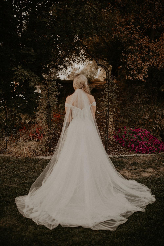 long train long veil sara gabriel bride wedding spokane