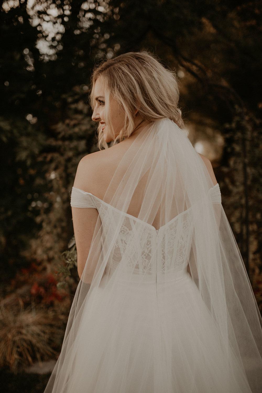 blonde bride wedding spokane veil lace