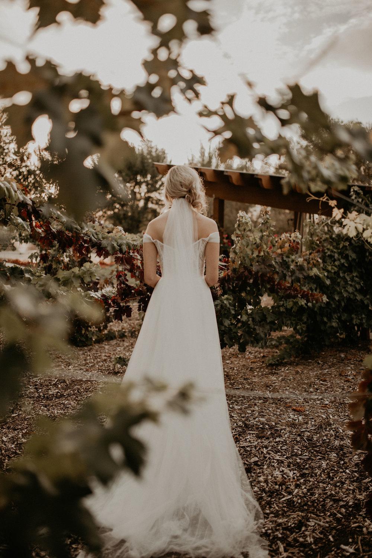 back picture bride veil train wedding spokane