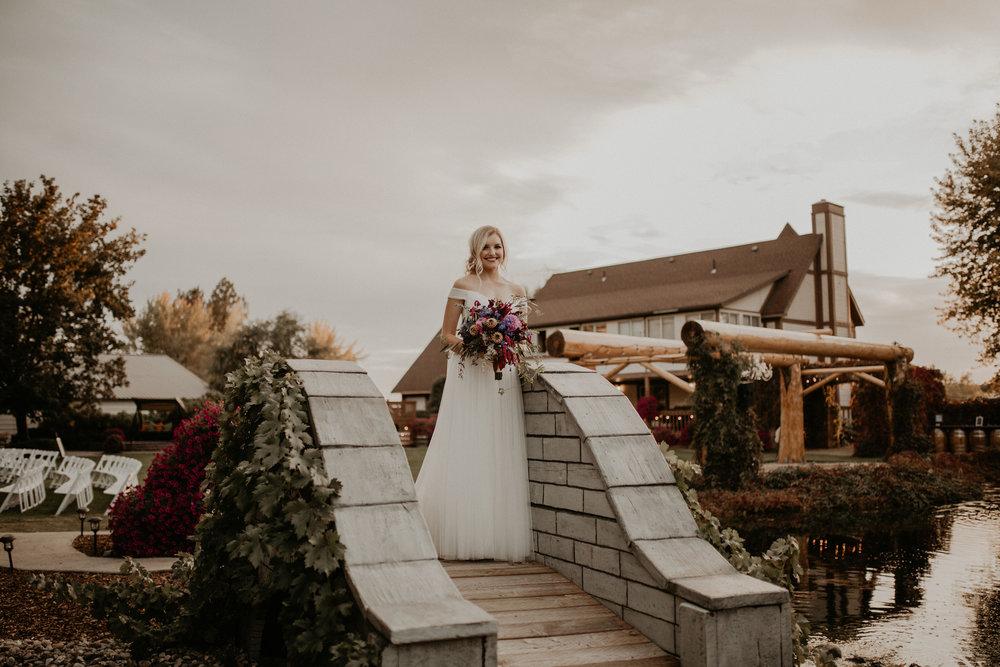 bride wedding bridge venue spokane