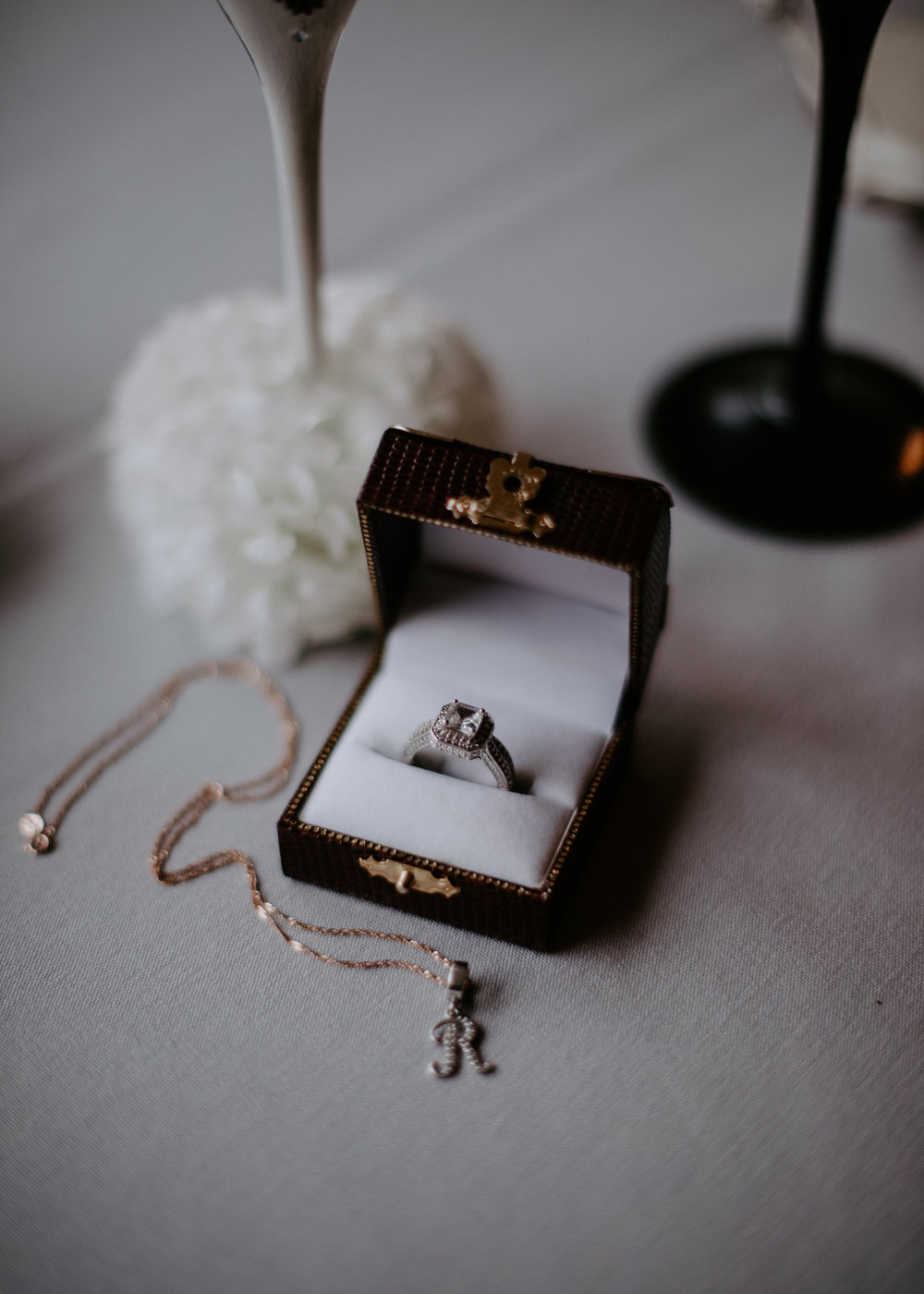 wedding rings detail picture winter spokane bride