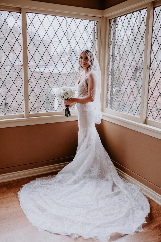 spokane bride wedding l'amour gown veil