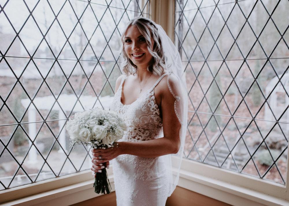 spokane bride winter wedding bridal gown