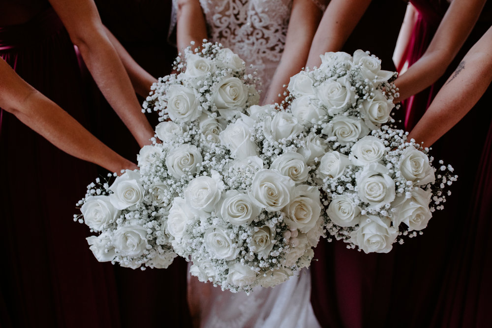 floral bouquet bridal party spokane wedding