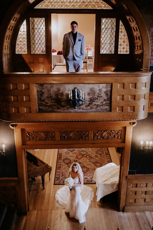 bride and groom wedding spokane