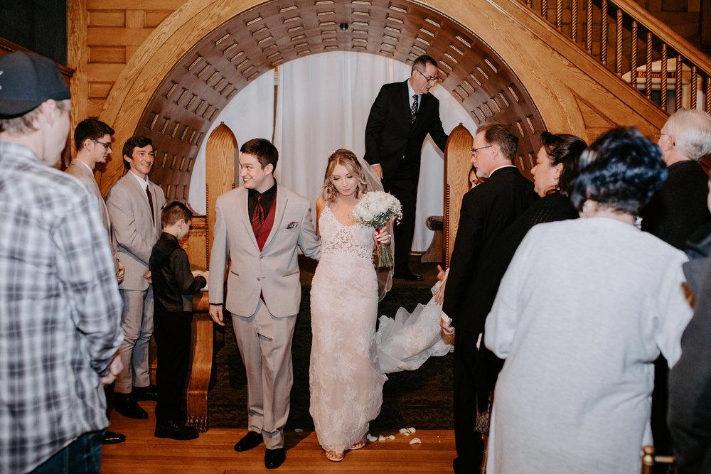 happy couple spokane wedding married