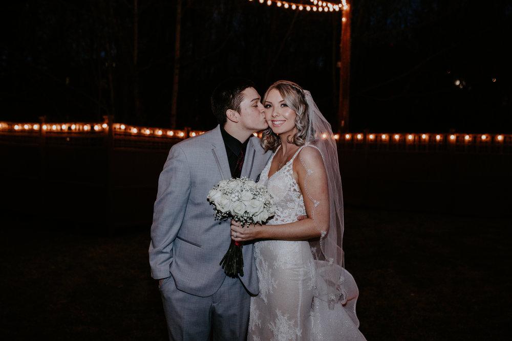 bride and groom spokane winter wedding