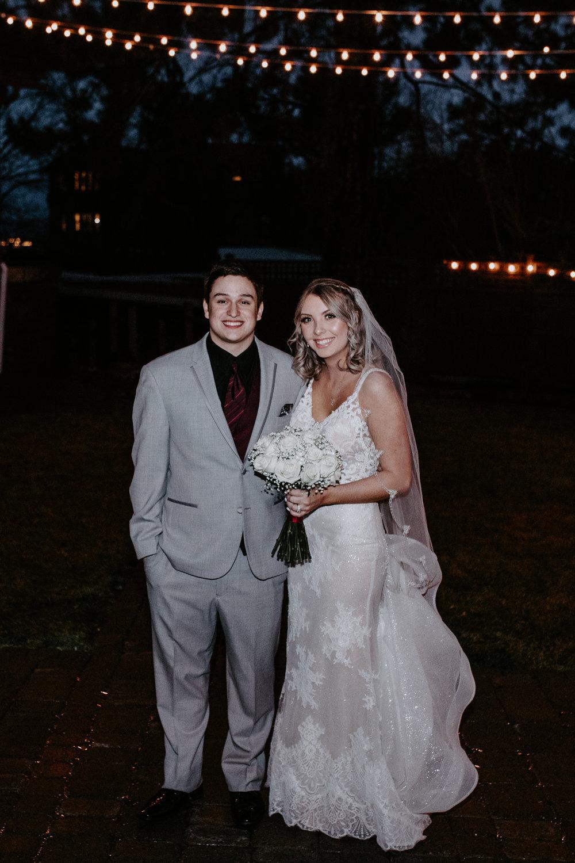bride and groom together kiss spokane winter wedding