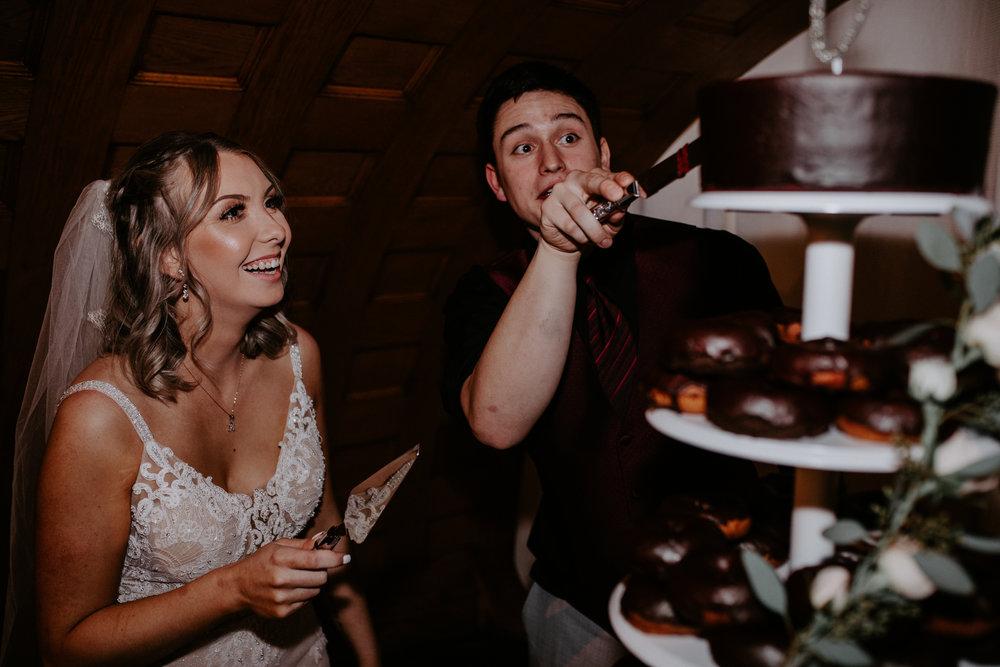 cutting the cake spokane wedding bridal shop