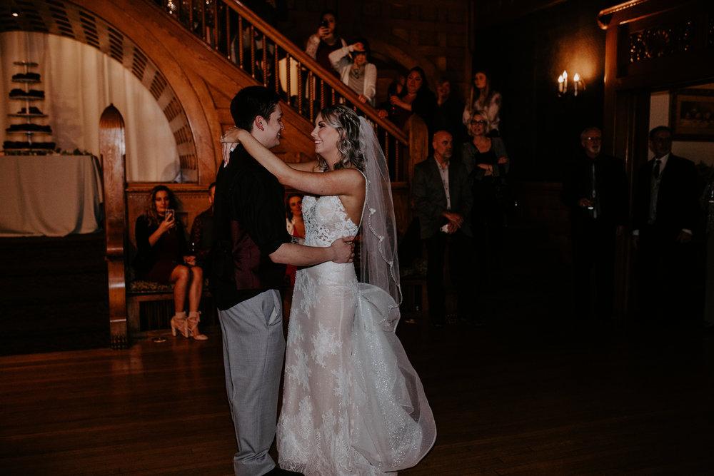 first dance bride and groom spokane wedding
