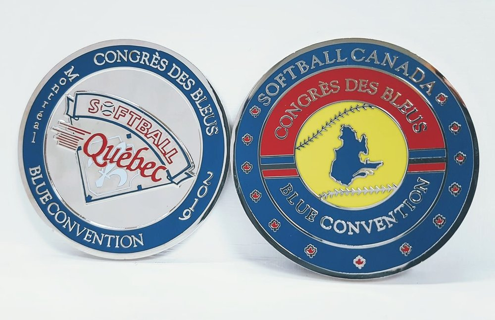 Blue Challenge Coin - The Blue Convention Official Challenge Coin for your plate meeting is here. Order your souvenir challenge coin now.Flips are $12/eachOnly 60 flips left to sell! Get them while you still can.For more information: