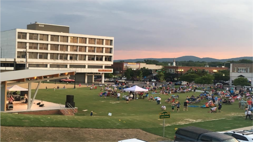 The new Burr Performing Arts Park, Downtown Dalton (2018)