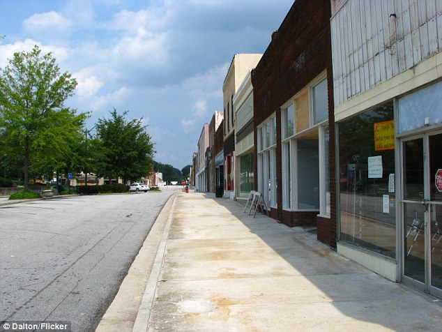 Empty Downtown Dalton