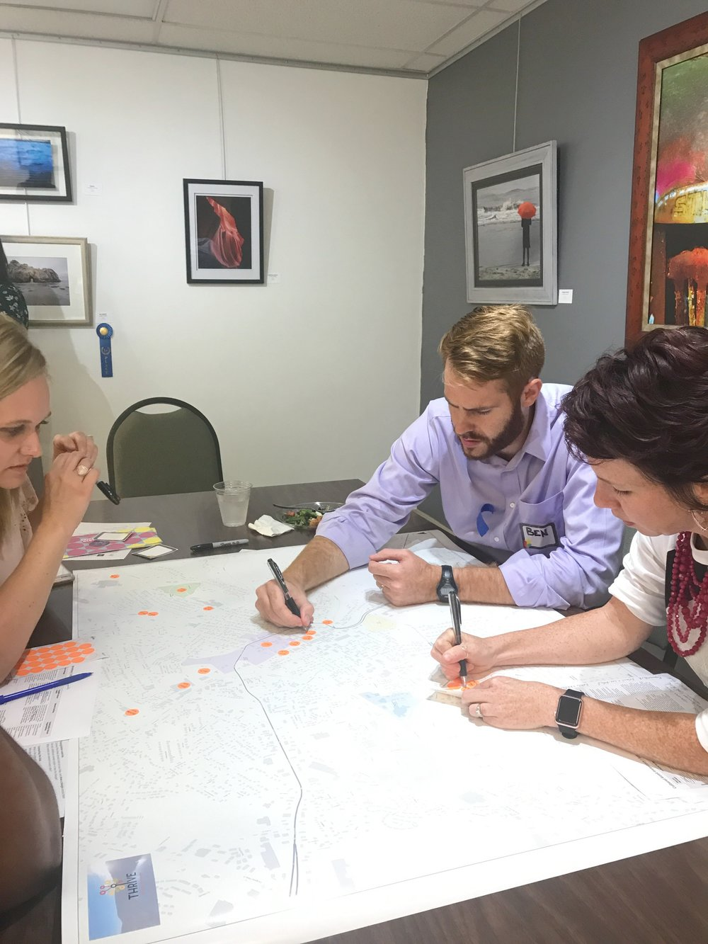 The team from Athens, TN, conducts an asset mapping exercise during the second round of Thriving Communities