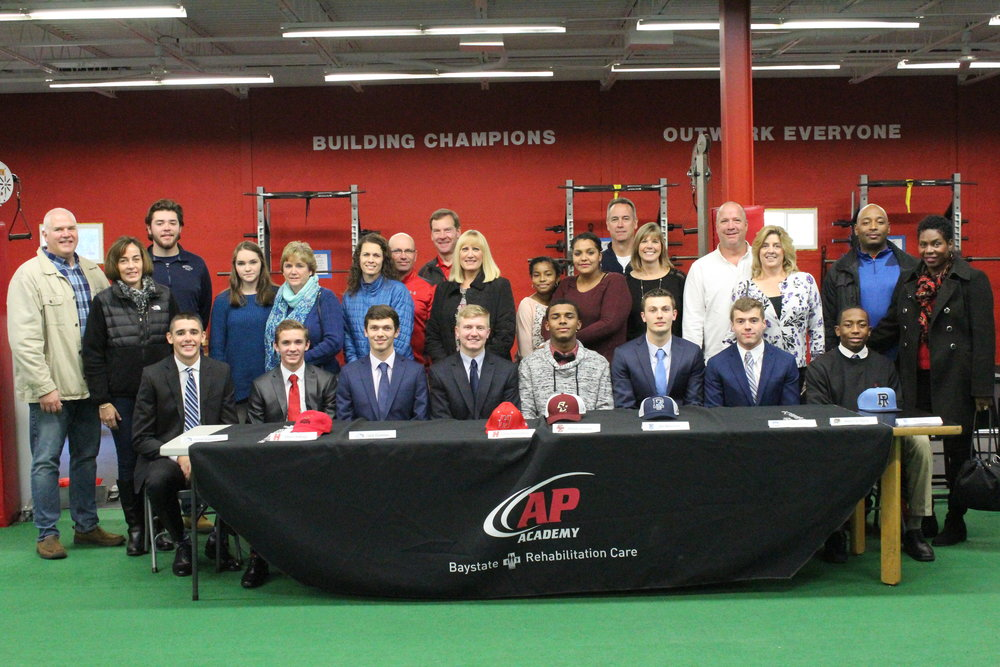 AP Academy athletes and their families during AP's National Letter of Intent ceremony.