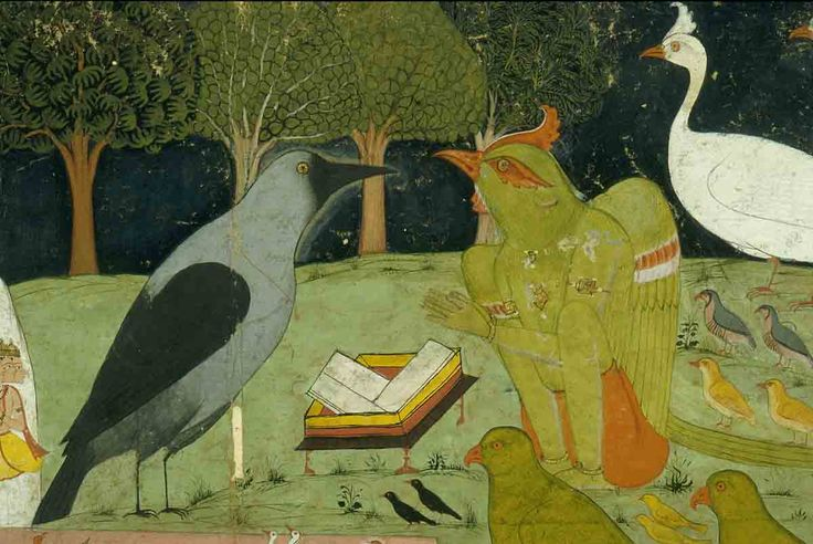 Kak Bhushundi, the wise crow, tells the story of Rama to Garuda, the king of birds.