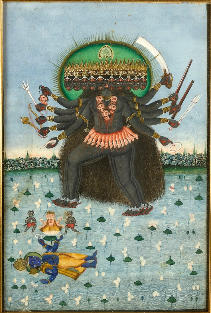 Kali ~ gouache, India 19thc- early 20thc .jpg