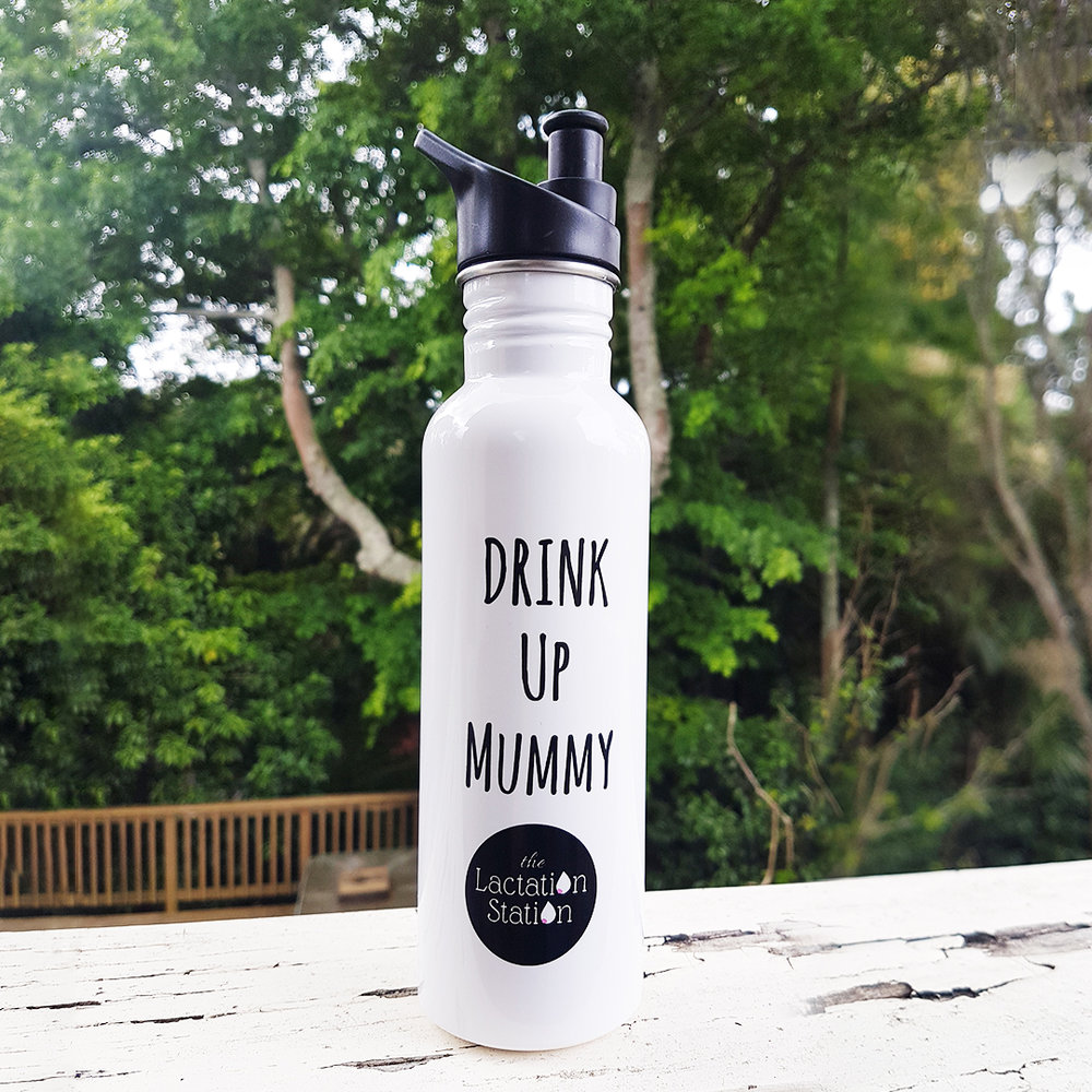 750 ml Stainless Steel drink bottle in white.   $20.00
