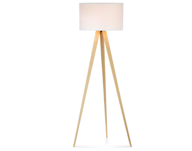 High low minimalist tripod floor lamps hilo home maya tripod floor lamp in light oak by actuelle 54000 sold on houzz aloadofball Image collections