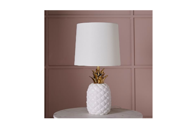High/Low White Pineapple Lamps