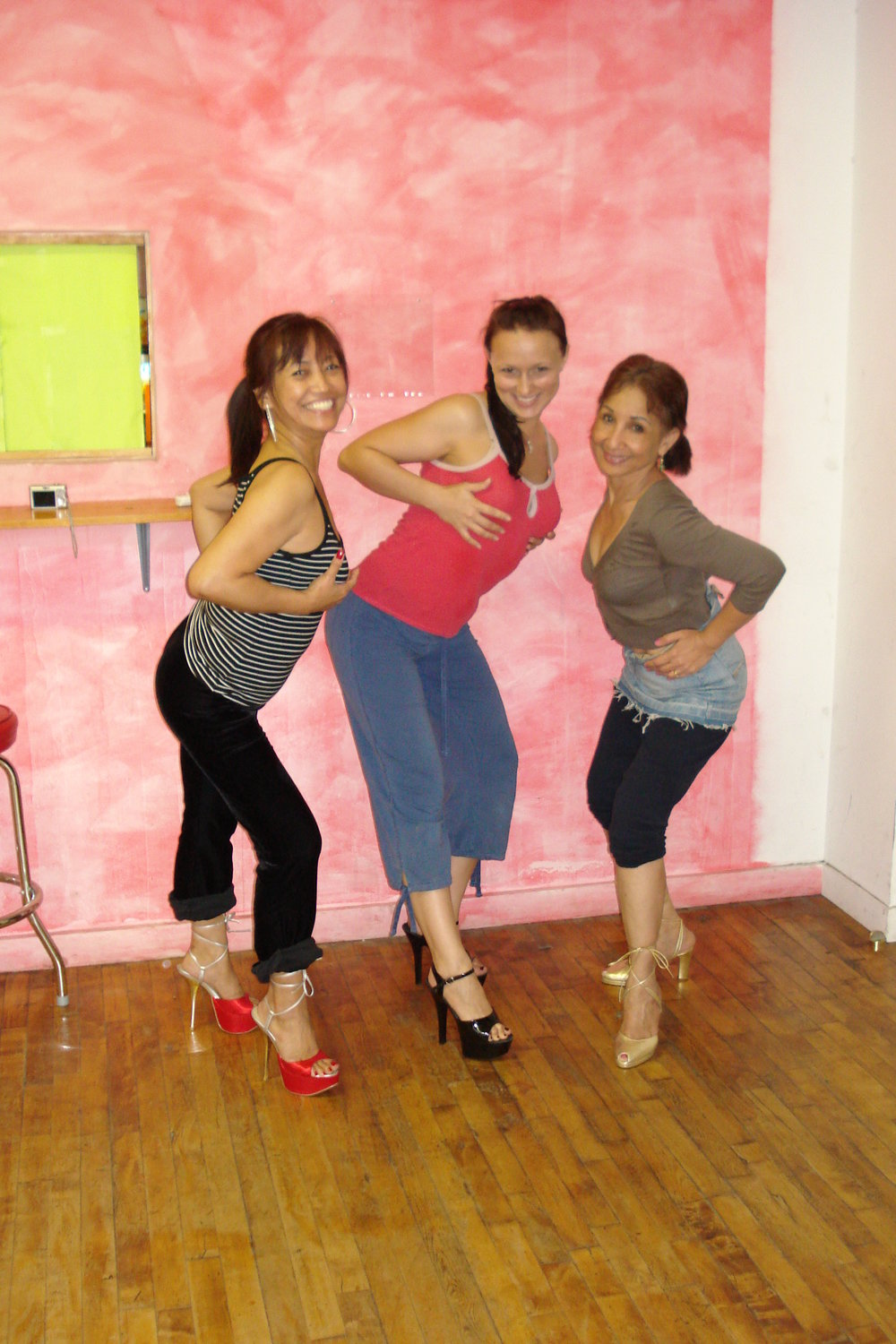 cheryl and jane stip work out 2.JPG