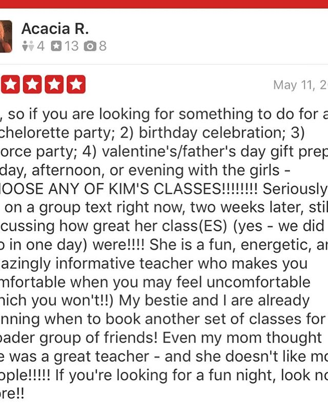 Yay! We love love!! Thank you! #thanks #grateful #bacheloretteparty #5stars #yay