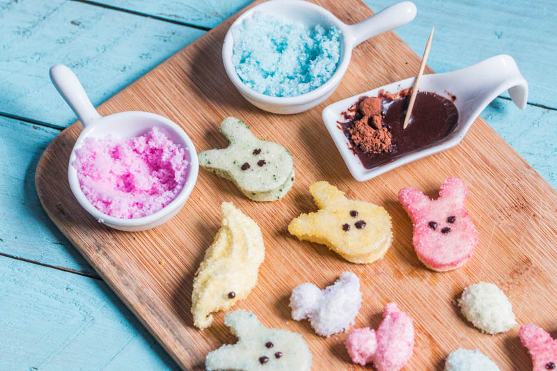 Paleo Homemade Marshmallow Peeps (Also GAPS friendly) - Click for recipe