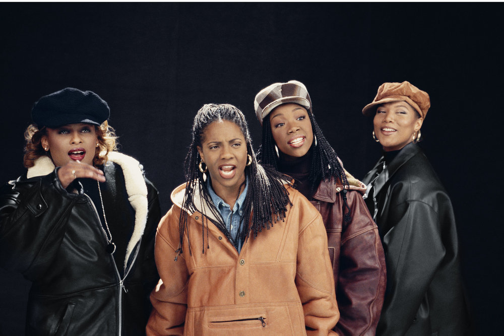 L to R: YoYo, MC Lyte, Brandy and Queen Latifah in 1994. Photo by Lisa Leone.