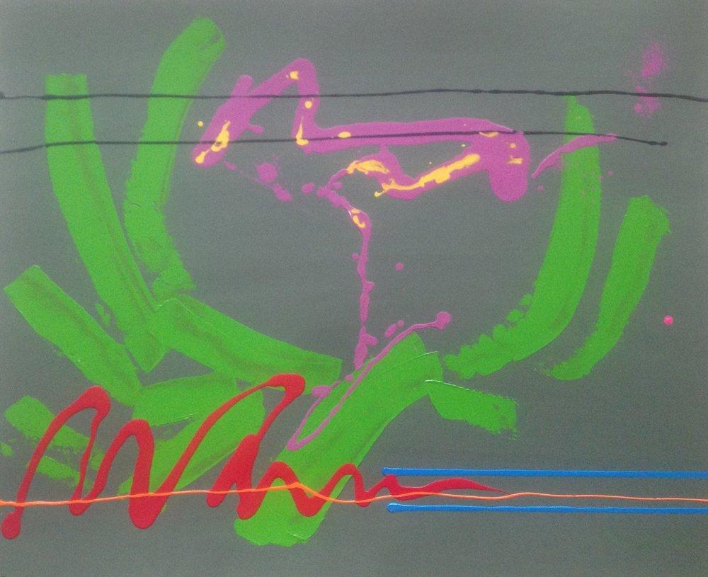 AR 1766 - Gilberto Salvador - 81 x 100 - Greens in the Nigth - Tecnica Mista Sobre Papel.JPG