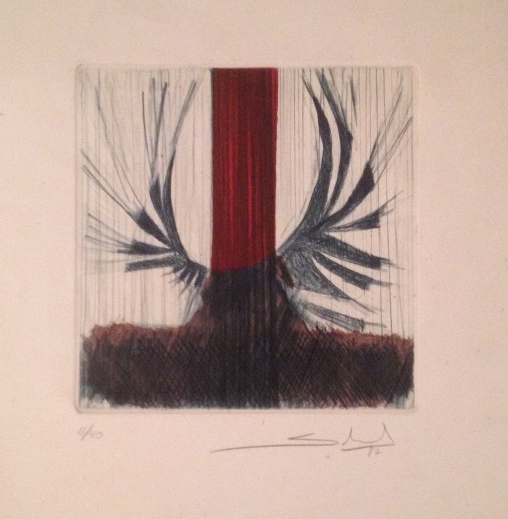 AR 1891 - Gilberto Salvador - 40 x 36 - Passaro em Metal - 11-40 - 1987 - Gravura em Metal.jpg