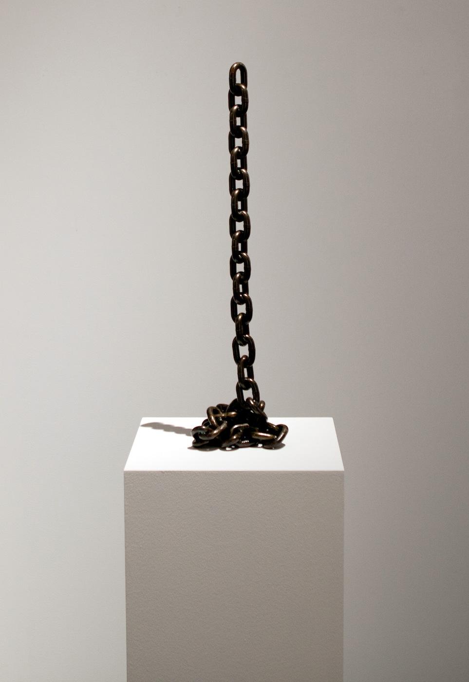 Judith Hopf  Endings 2011 Iron, Varnish  100 cm tall