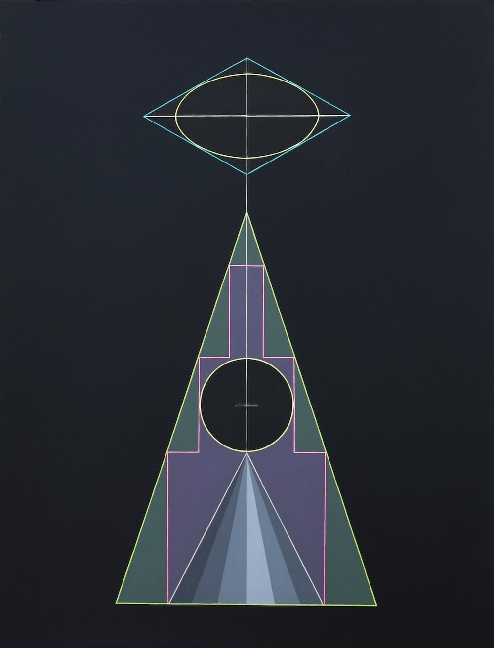 Ascent 2012 Acrylics and marker on paper 56.5 x 43.2 cm