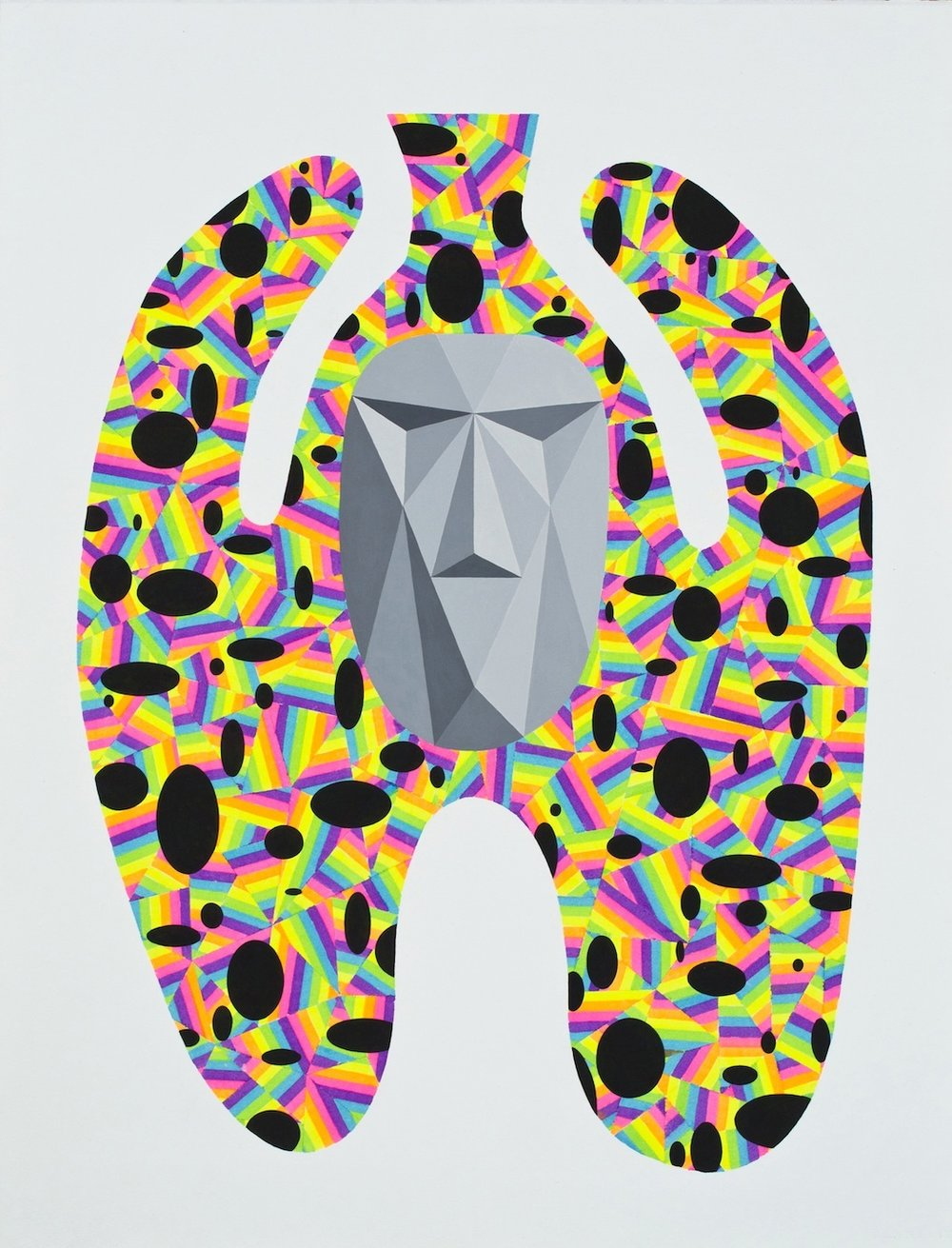 Urn 2012 Acrylics and marker on paper 56.5 x 43.3 cm