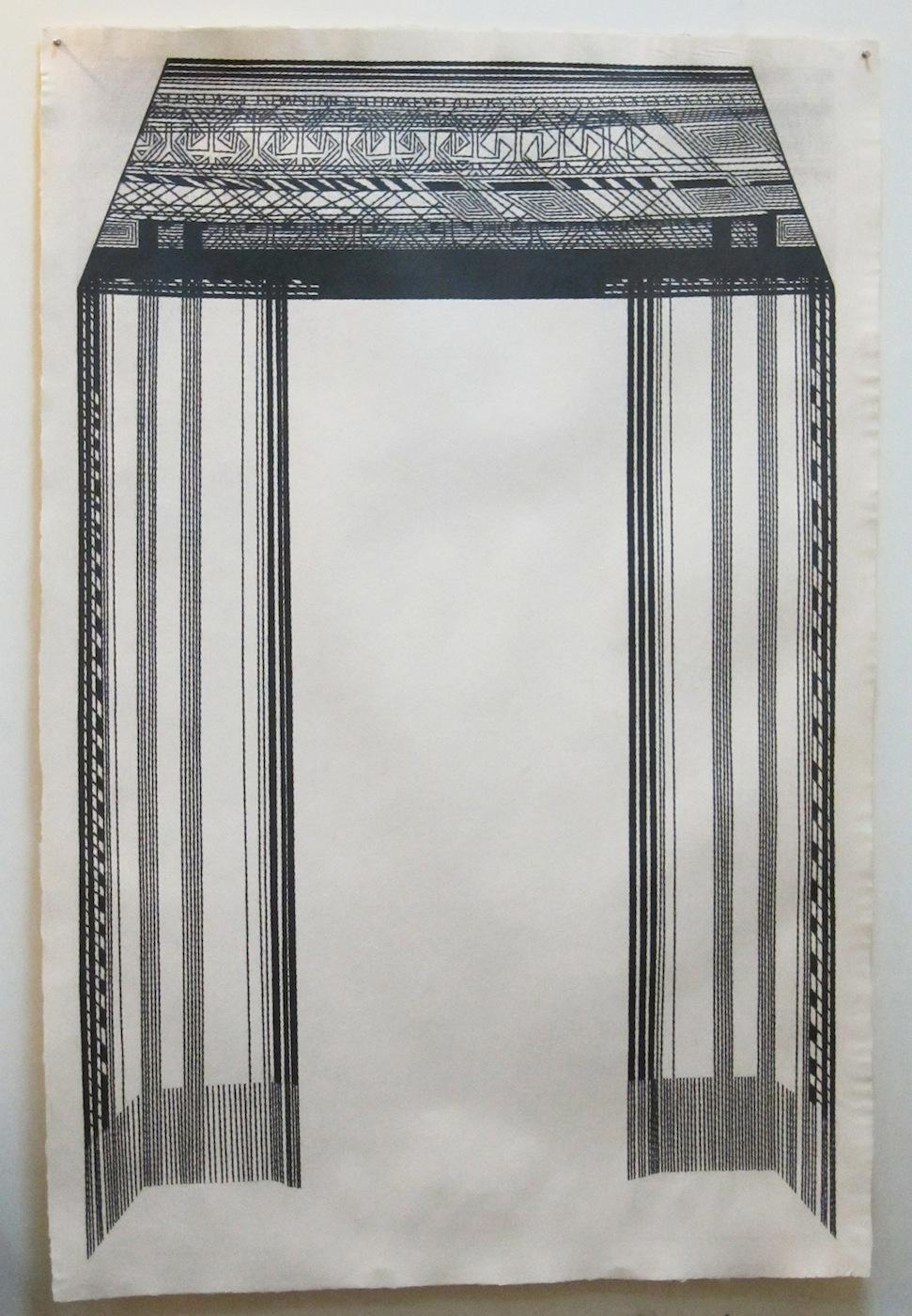 Alyssa Pheobus Mumtaz  Honour 2010 Graphite on handmade paper 152.4 x 101.6 cm