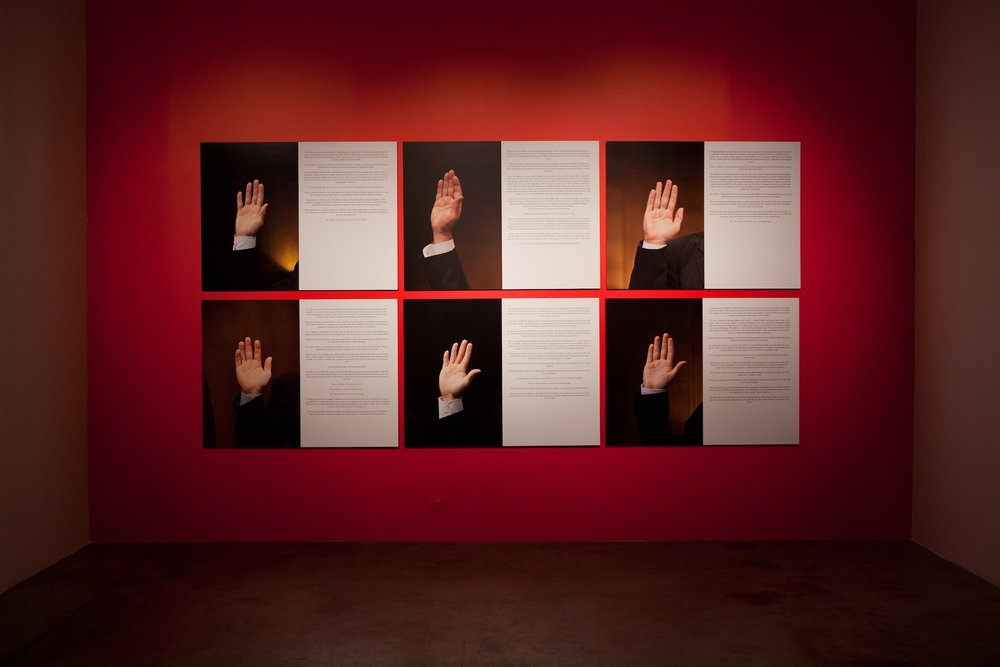 Danilo Correale  The Future in Their Hands (The visible hands) 2011/12 6 c-prints (framed) 99 x 129 cm (each)  Edition 2 + 1 AP