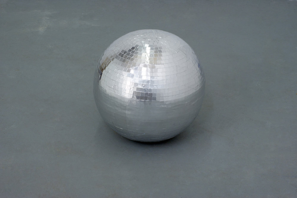 Caline Aoun  Disco ball 2015 Plaster, aluminum tape 40 cm diameter