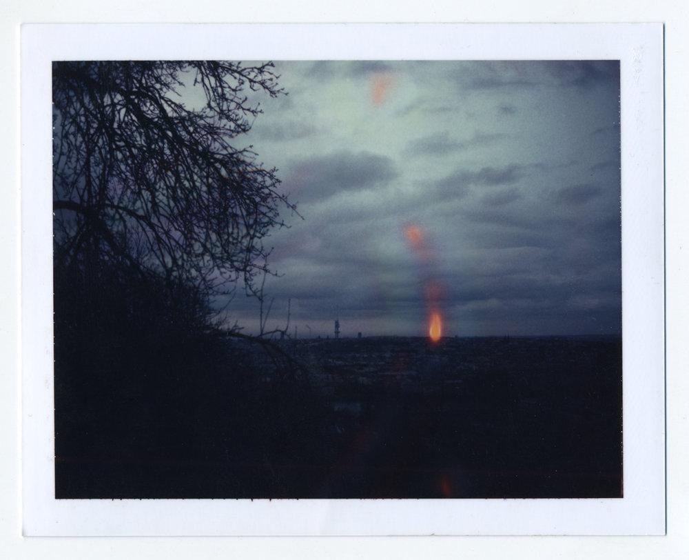 Michael John Whelan  End Game 2012 Polaroid, framed 31.5 x 33.5 cm