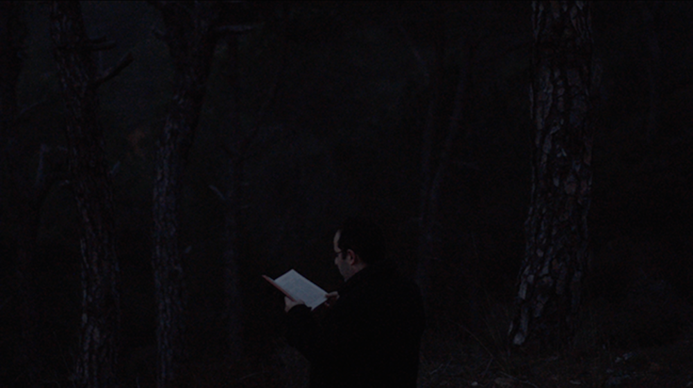 No Light In White Light 2014 Video 00:11:00   A Syriac priest starts reading the genesis in Aramaic, a dead language, a few minutes before day fall in a forest in Mount Lebanon. With the light getting dimmer, the reading becomes more and more difficult, the priest stops reading the text when the Aramaic words totally fade in the night.
